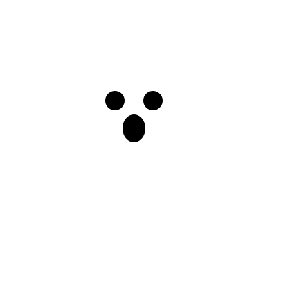 A picture of a scary ghost!